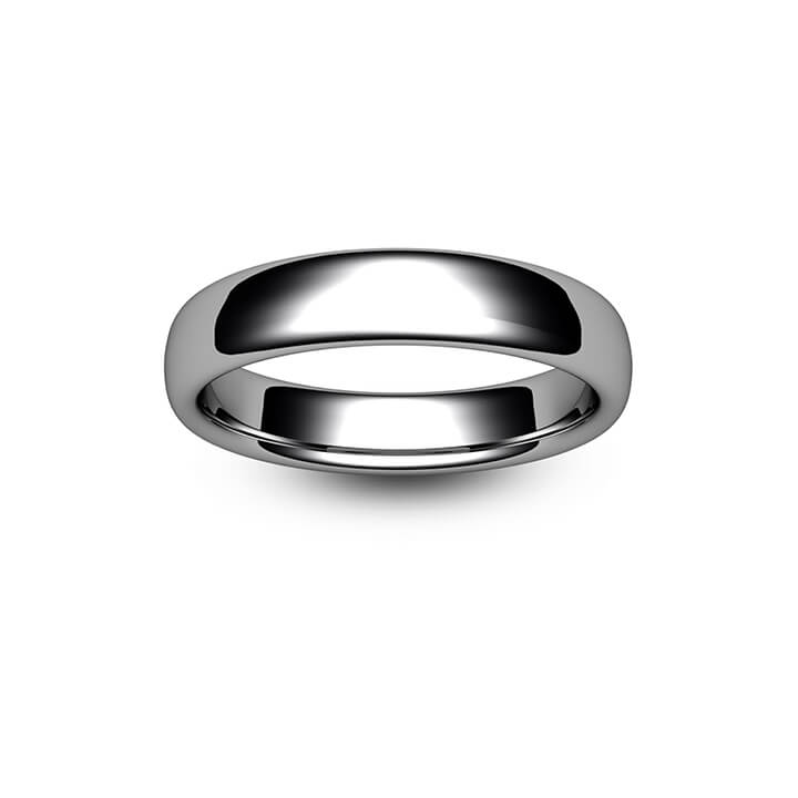 Platinum Slight Court Wedding Ring