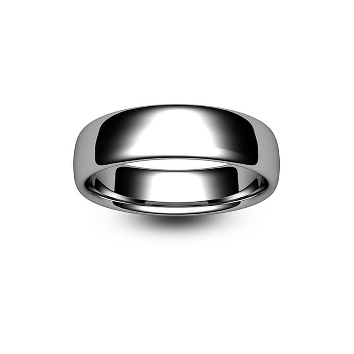 9ct White Gold Slight Court Wedding Ring