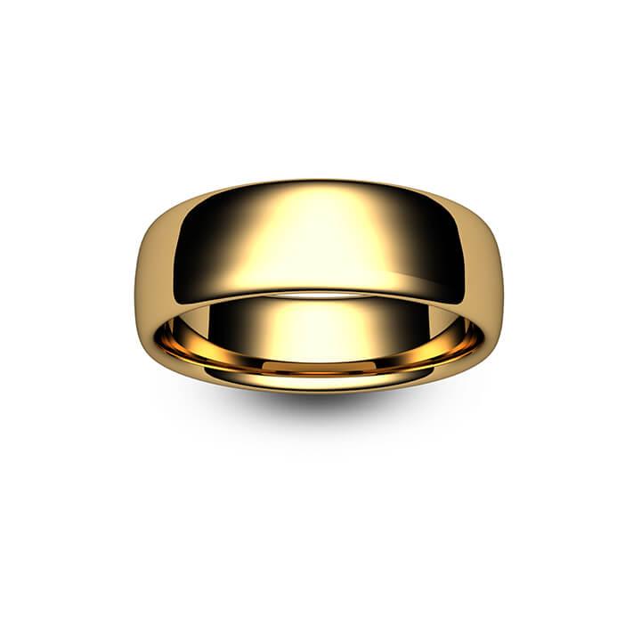 18ct Yellow Gold Slight Court Wedding Ring