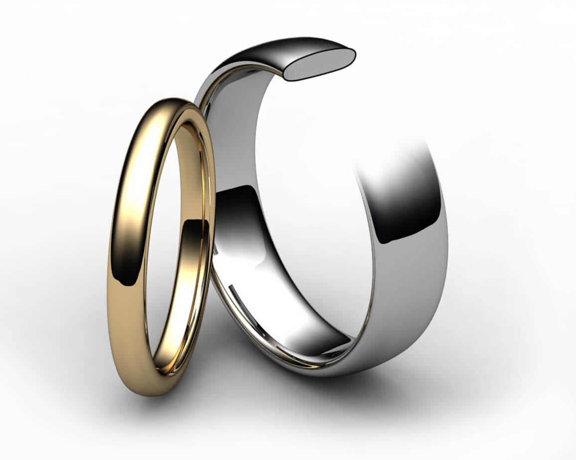 18ct Yellow Gold Slight Court Wedding Ring