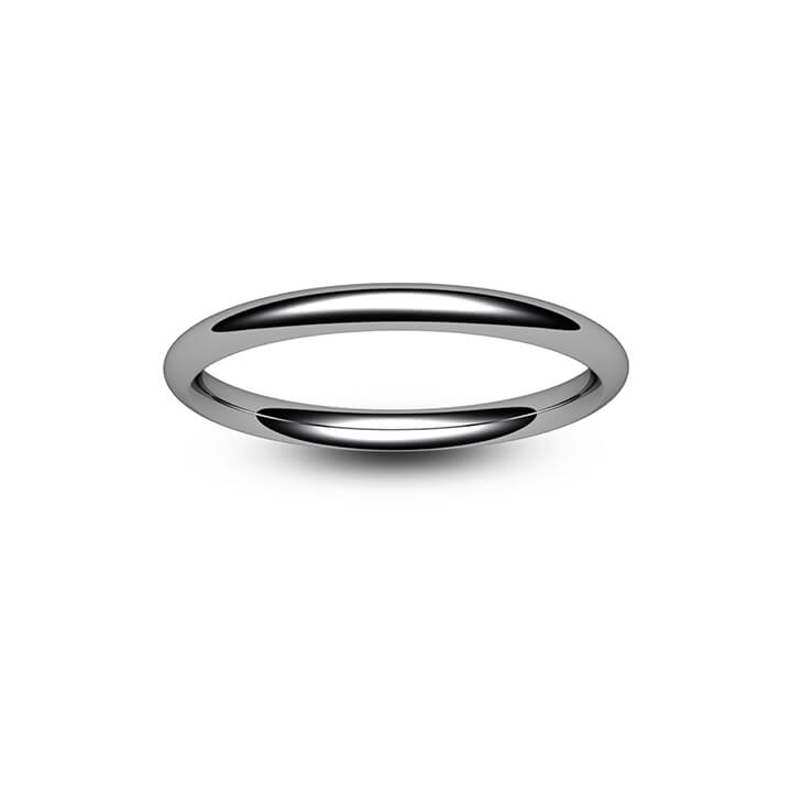 Platinum Traditional Court Wedding Ring