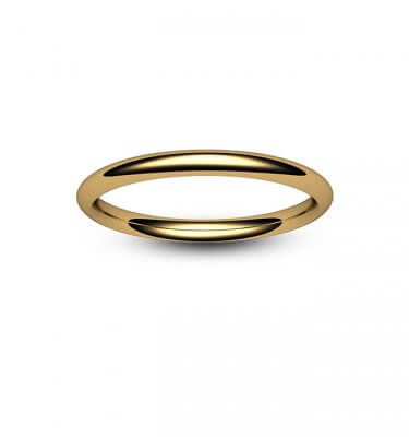 18ct Rose Gold Traditional Court Wedding Ring
