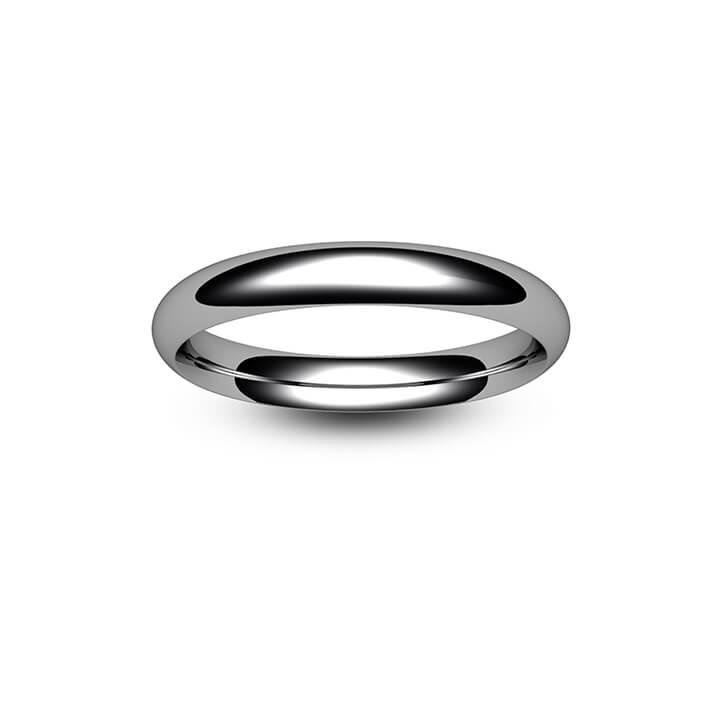 Palladium Traditional Court Wedding Ring