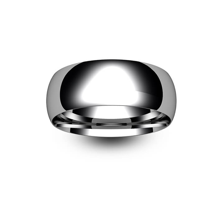 9ct White Gold Traditional Court Wedding Ring