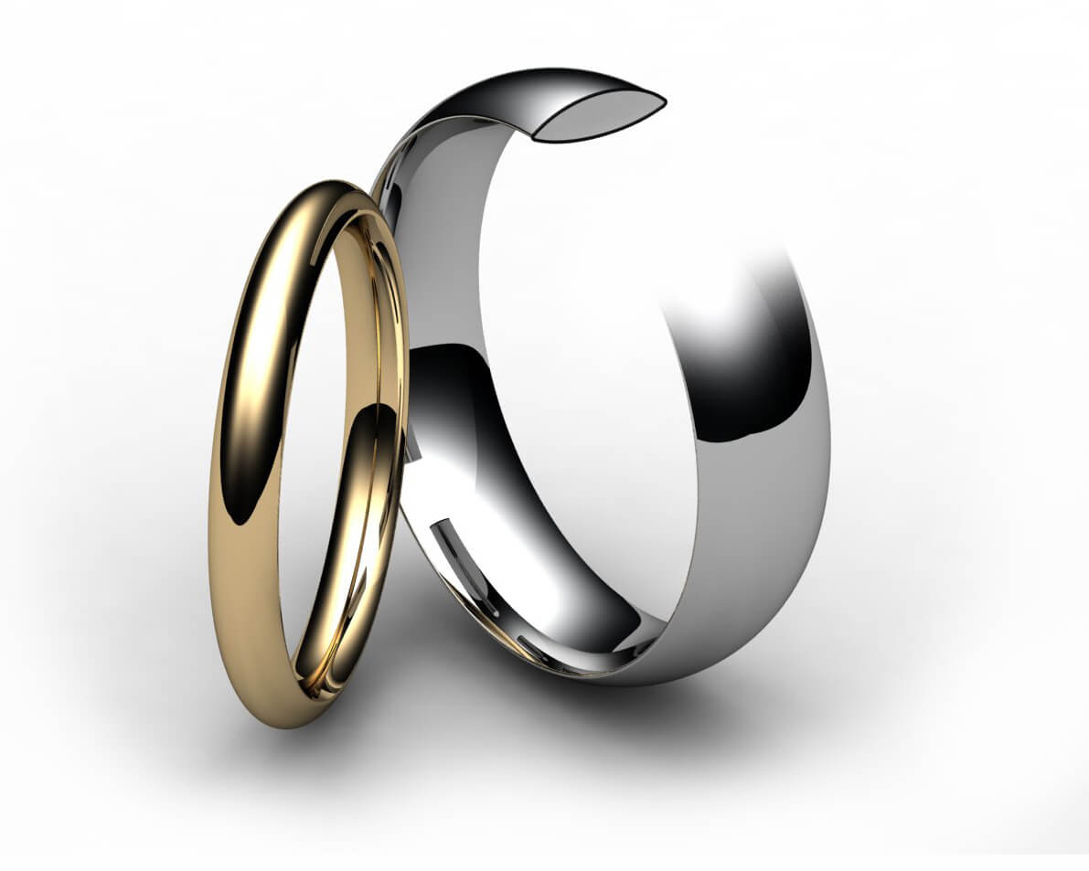 Palladium Traditional Court Wedding Ring
